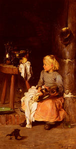 Joseph Bail - The Little Girl with the Cauldron