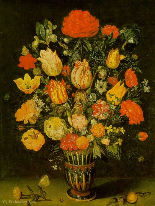 Still-Life of Flowers by Dubois Ambroise (Ambrosius Bosschaert)