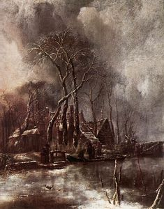 Jan Van De Capelle - Winter landscape