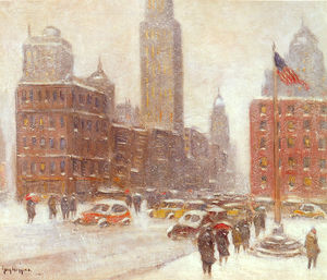 Guy Carleton Wiggins - Fifth avenue at madison square