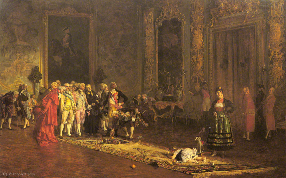 The Education of a Prince by Eduardo Zamacois Zabala (1841-1871) | WahooArt.com