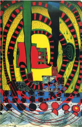 Jorney II and travel by rail by Friedensreich Hundertwasser (1928-2000, Austria) |  | WahooArt.com