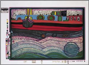 Friedensreich Hundertwasser - A Regentag on Waves of Love
