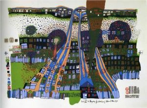 Friedensreich Hundertwasser - Let us pray manitou wins
