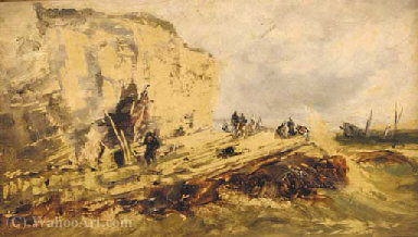 Flamborough head by Edwin Hayes | Famous Paintings Reproductions | WahooArt.com