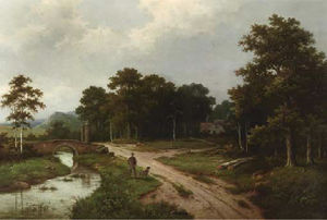 Hendrik Pieter Koekkoek - Inspecting the estate