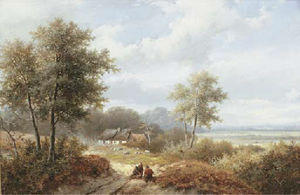Hendrik Pieter Koekkoek - Wood gatherers