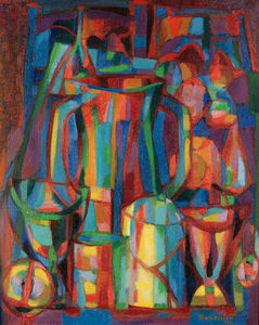 Alfred Manessier - Milk jug and fruits