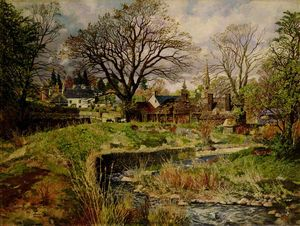James Mcintosh Patrick - Glamis Village in April