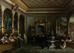Thomas Allom - A Coffee House in Tophane
