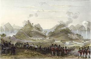 Thomas Allom - Attack and capture of Chuenpee
