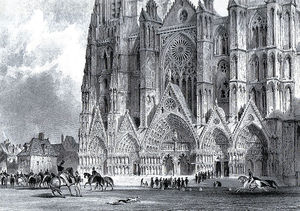 Thomas Allom - Bourges cathedral