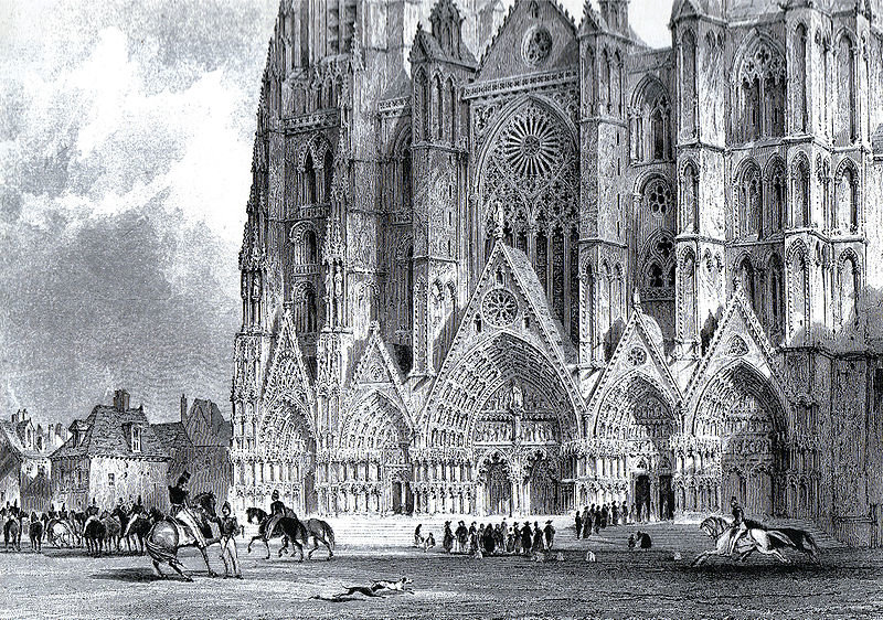 Bourges cathedral by Thomas Allom