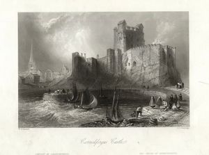 Thomas Allom - Carrickfergus castle