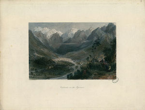 Thomas Allom - Cauterets, in the Pyrenees