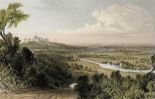 View from Coopers Hill by Thomas Allom (1804-1872, United Kingdom)