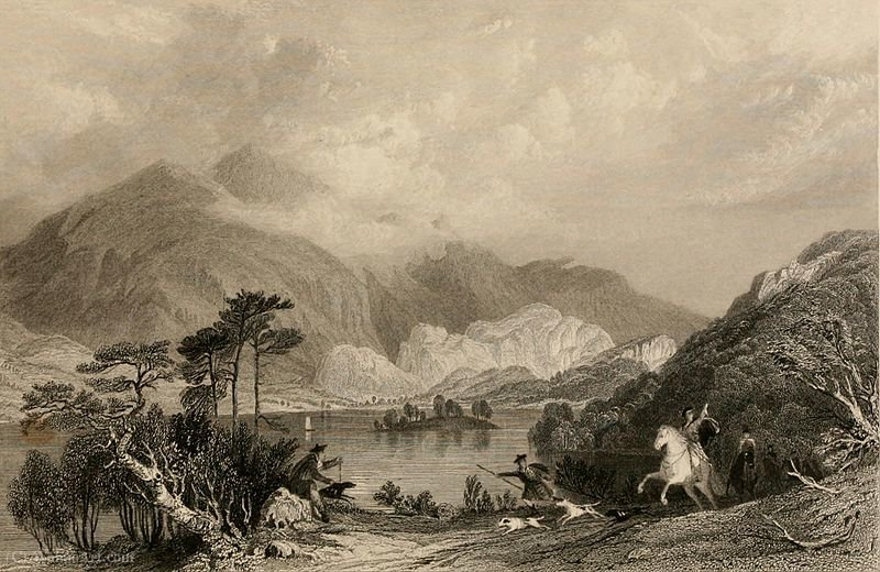 Loch achray, perthshire by Thomas Allom
