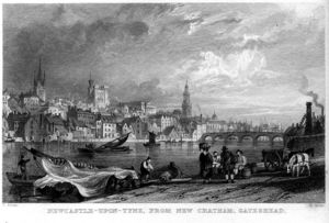 Thomas Allom - Newcastle-upon-Tyne from New Chatham engraving