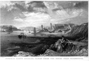 Thomas Allom - North and South Shields engraving