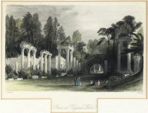Ruins at virginia water by Thomas Allom (1804-1872, United Kingdom)