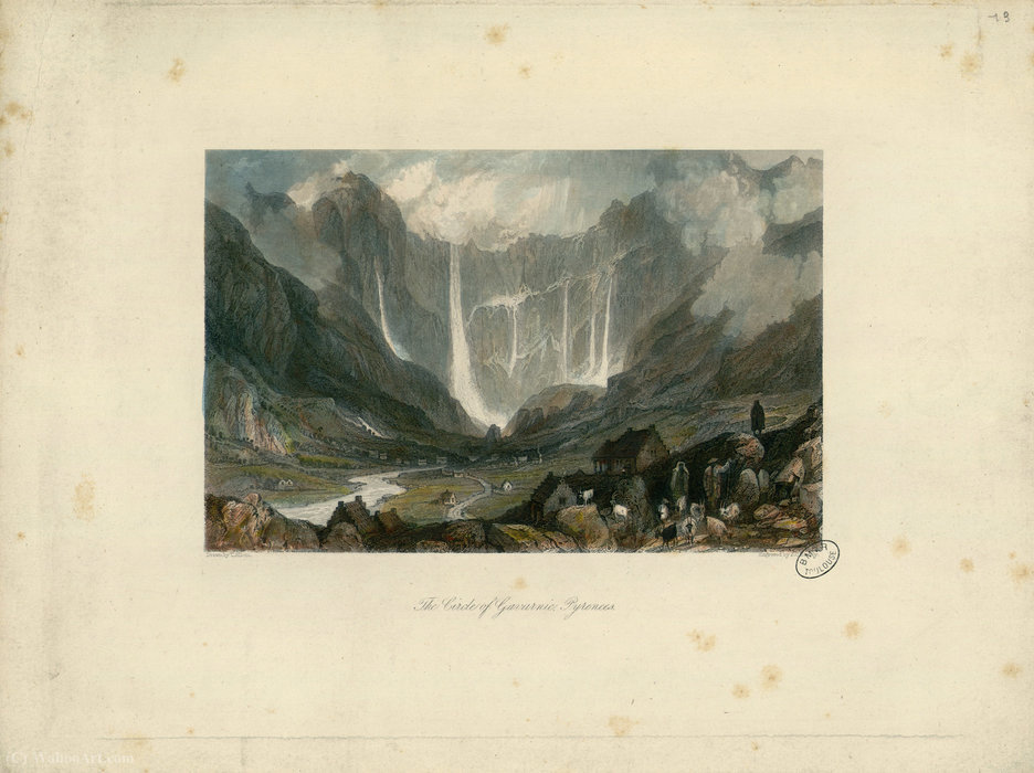 The Circle of Gavarnie by Thomas Allom (1804-1872, United Kingdom) | Museum Quality Reproductions | WahooArt.com