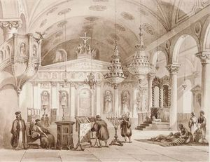 Thomas Allom - The greek church of baloukli near constantinople