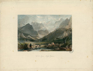 Thomas Allom - Val d'Azun, High Pyrenees - Fonds Ancely