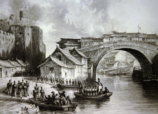 West Gate of Ching by Thomas Allom