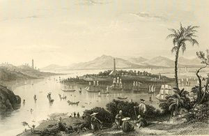 Thomas Allom - Whampoa from Dane's Island