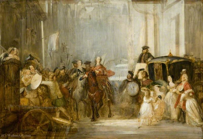 The Entrance of Prince Charles Edward Stuart to Edinburgh after Prestonpans by Thomas Duncan (1874-1966) | Art Reproduction | WahooArt.com