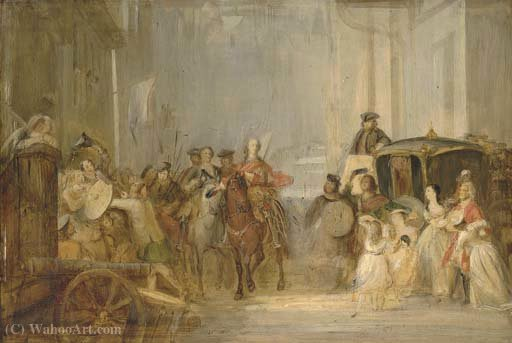 The entrance of prince charles edward stuart by Thomas Duncan (1874-1966) | Painting Copy | WahooArt.com