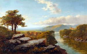 Edward H. Niemann - River landscape, thought to be the river swale