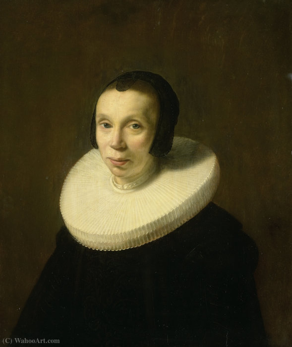Portrait of a woman by Abraham De Vries (1590-1662, Netherlands)