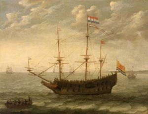 Abraham Willaerts - A Zeeland Ship at Anchor