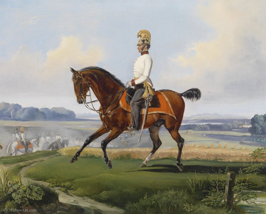 Lieutenant theodor by Adam Albrecht (1786-1862, Germany) | Famous Paintings Reproductions | WahooArt.com
