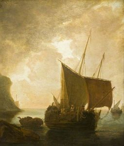 Adam Pynacker - Harbour Scene with Fishing Boats