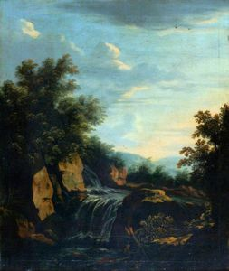 Adam Pynacker - Landscape with a Waterfall