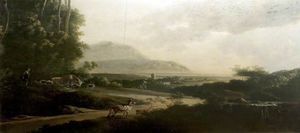 Order Oil Painting : Landscape with a Winding Roadway by Adam Pynacker (1622-1673, Netherlands) | WahooArt.com