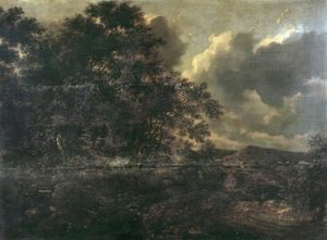 Adam Pynacker - Wooded landscape