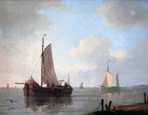 Adam Silo - Dutch barges painted