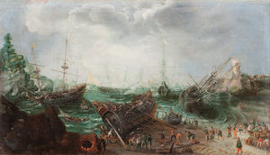 Adam Willaerts - Harbour scene