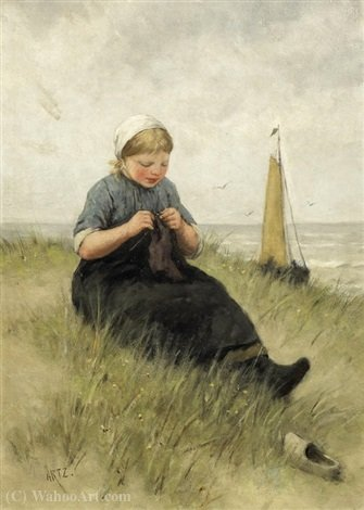 Order Art Reproductions | On the dunes by Adolph Artz (David Adolf Constant Artz) (1837-1890, Netherlands) | WahooArt.com