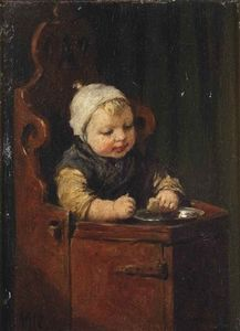 Adolph Artz (David Adolf Constant Artz) - Toddler in a child seat