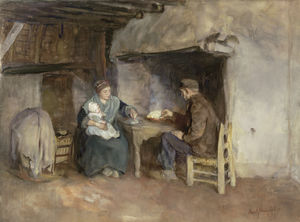 Albert Neuhuys - A Peasant Family at Lunch