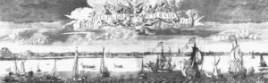 Order Art Reproductions | Panoramic View of St. Petersburg by Aleksey Fyodorovich Zubov (1682-1750, Russia) | WahooArt.com