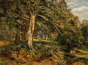 Alexander Junior Fraser - A Glade in Cadzow Forest