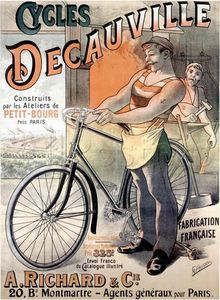 Alfred Choubrac - Advertising poster for bicycles branded Decauville