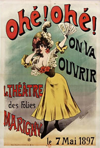 Alfred Choubrac - Post Ahoy Ahoy It will open follies of Théatre Marigny Choubrac