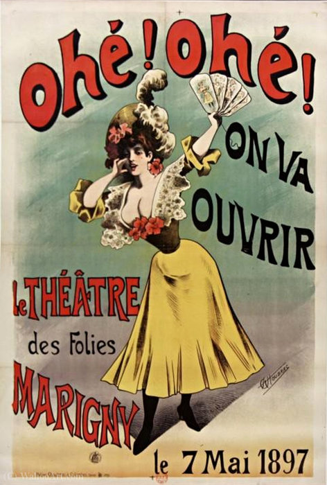 Post Ahoy Ahoy It will open follies of Théatre Marigny Choubrac by Alfred Choubrac (1853-1902)