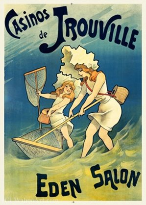 Poster Casino de Trouville by Choubrac by Alfred Choubrac (1853-1902) | Art Reproduction | WahooArt.com